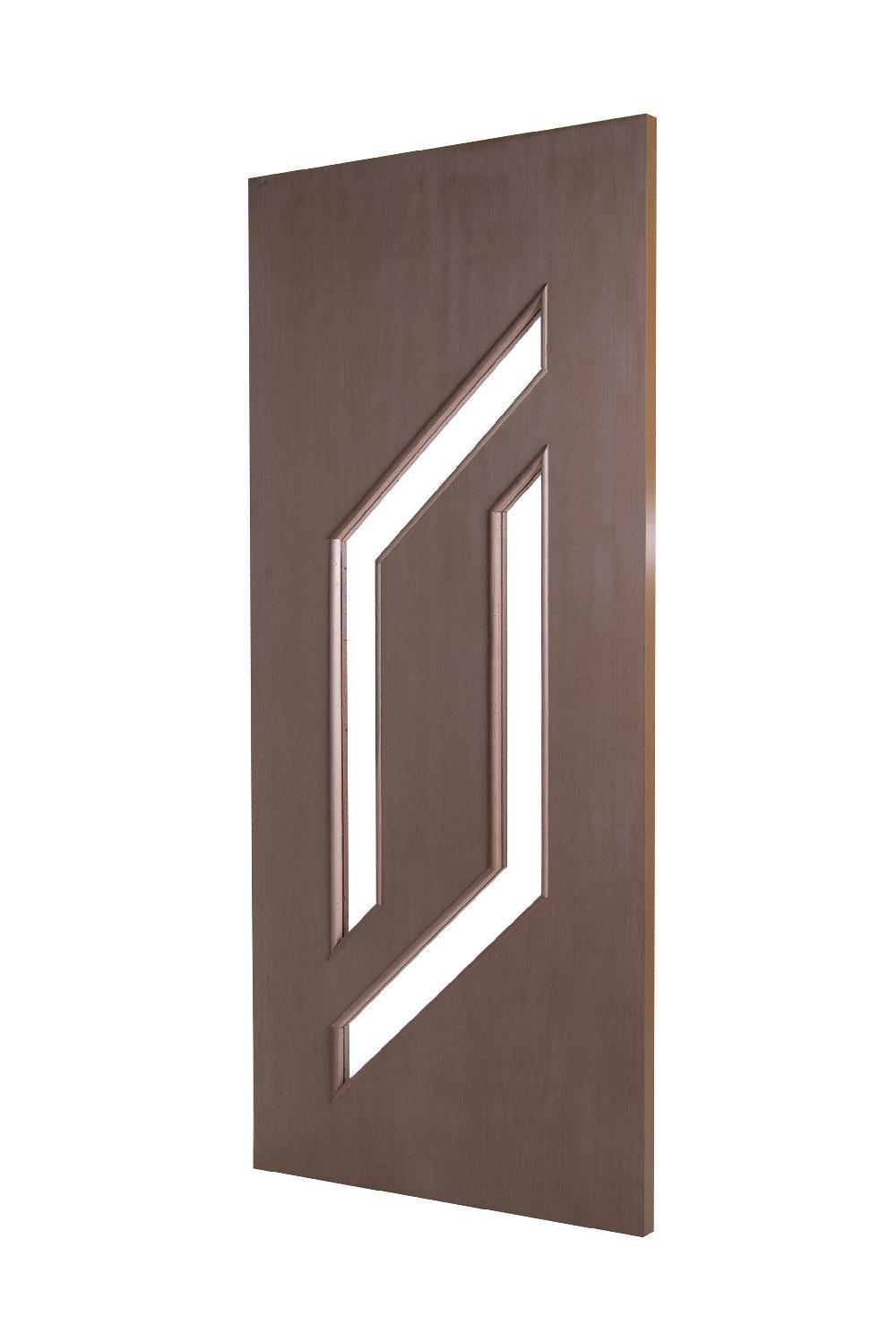 Porta Decorativa de Madeira Sólida Ref56 Padrão Imbuia