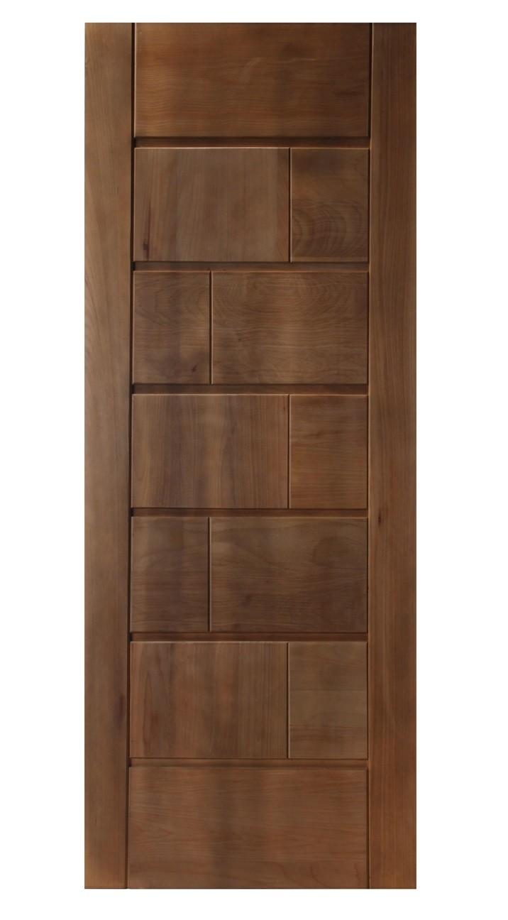 Porta de Madeira Maciça Tijolo Padrão Imbuia