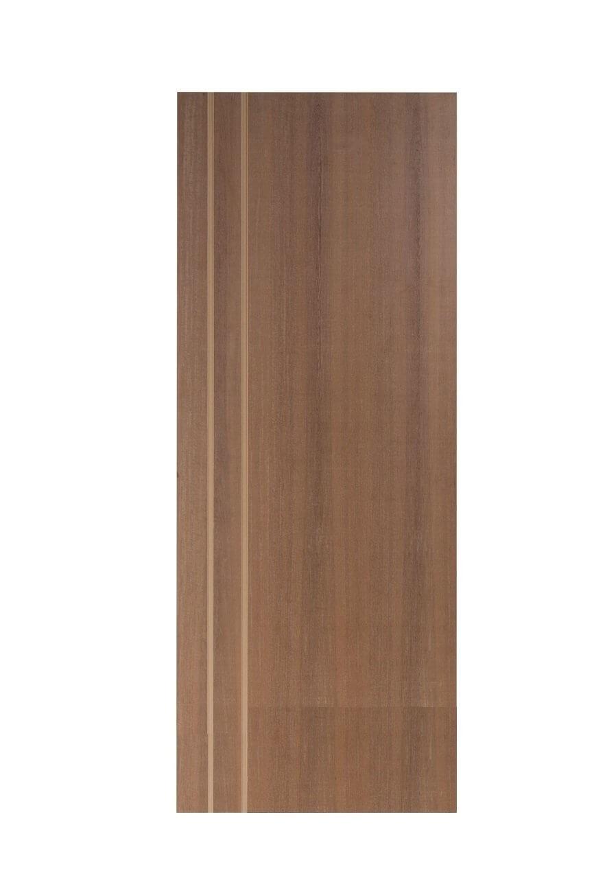 Porta Frisada de Madeira Sólida Ref F.02D Padrão Imbuia -210 x 72