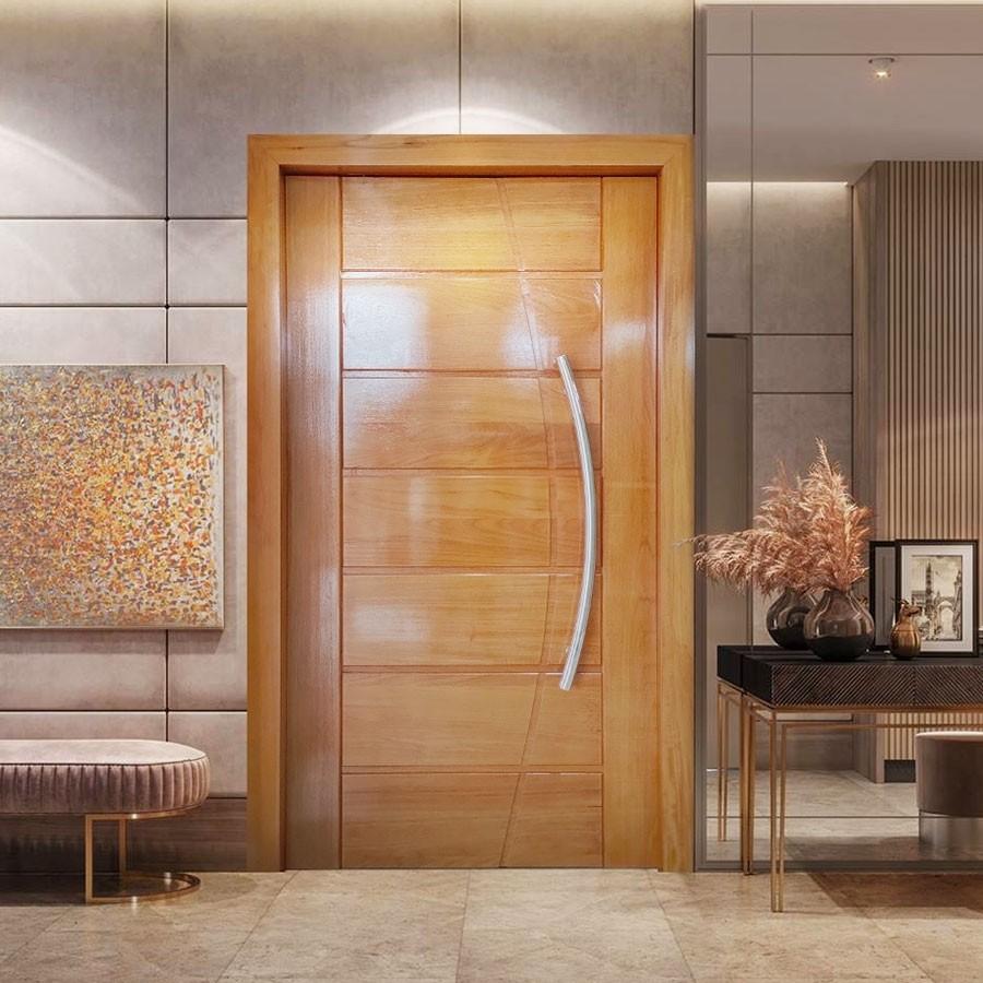 Porta Pivotante de Madeira Maciça Belíssimo - 2,15 x 117 x 14cm Padrão Cedro