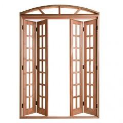 Porta de Correr de Madeira Pantográfica Arco