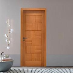 Porta de Madeira Maciça Tijolo Padrão Cedro - 210 x 72