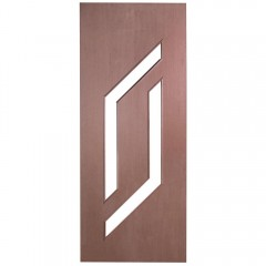 Porta Decorativa de Madeira Sólida Ref56 Padrão Cedro