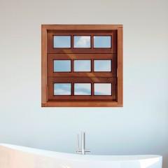 Vitrô Basculante de Madeira Reto Padrão Imbuia - 80 x 80 x 10
