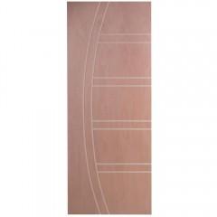 Porta Frisada de Madeira Sólida D22 Padrão Cedro -210 x 62