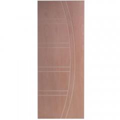 Porta Frisada de Madeira Sólida D22 Padrão Cedro