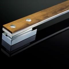 Puxador Home Wood Cromado