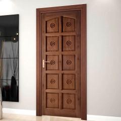 Porta de Madeira Maciça Torneada Ecológica Finger-210 x 82 Imbuia