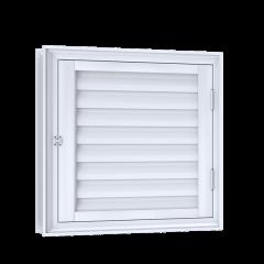 Porta De Giro Para Alçapão Com Ventilação De Alumínio