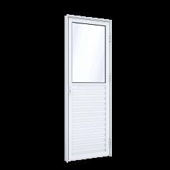 Porta De Giro Mista Com Ventilação De Alumínio