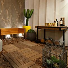 Deck Ecológico Modular Em WPC Coffe