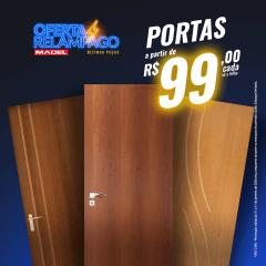 Porta Lisa de Madeira Sarrafeada Verniz Padrão Imbuia Extra -210 x 62 x 3.5
