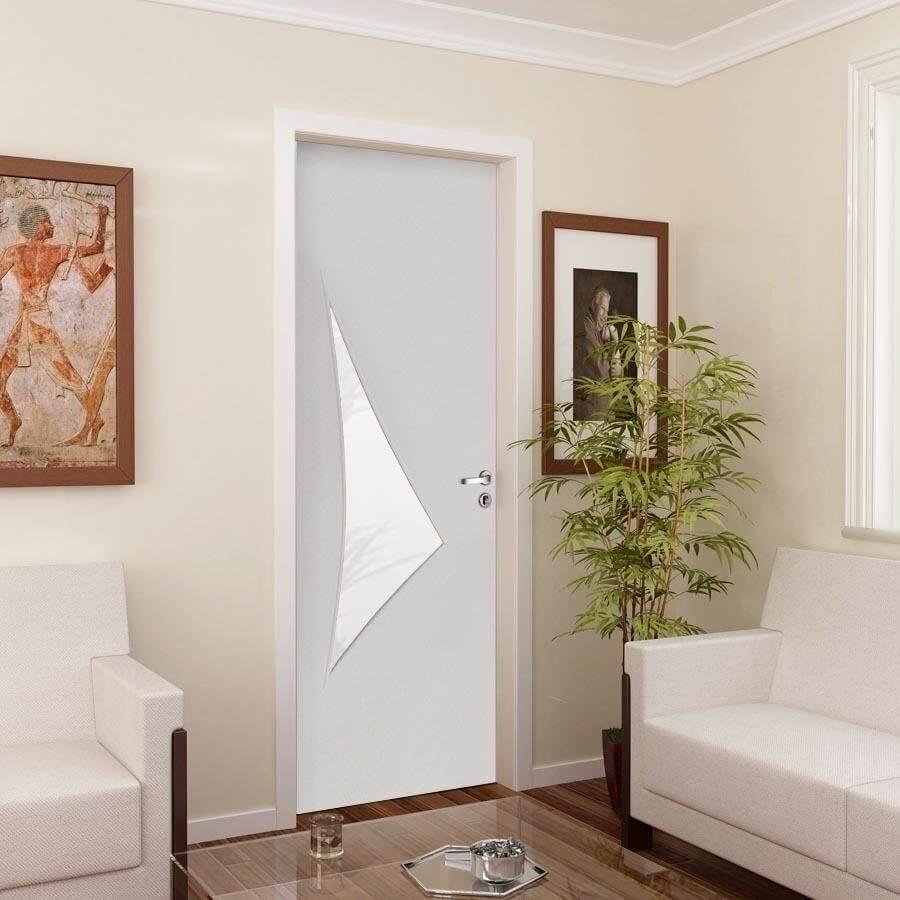 Porta Decorativa de Madeira Sólida Adel