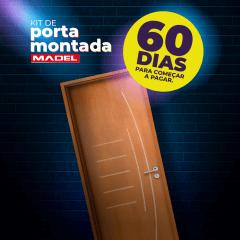 Porta MONTADA Frisada de Madeira Sarrafeada Gigi -210 x 72 x 3.5