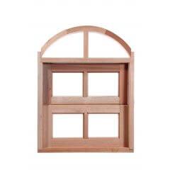 Vitrô Basculante de Madeira Arco Padrão Cedro