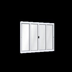 Janela De Alumínio De Correr Central Sem Grade-100 x 120 x 5,5