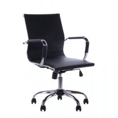 Cadeira Escritório Stripes Diretor Preta Base Cromada