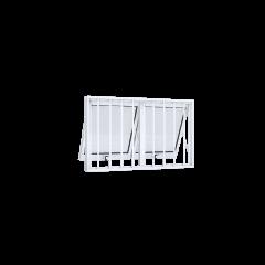 Vitrô De Alumínio Max Ar Duplo Horizontal Com Grade