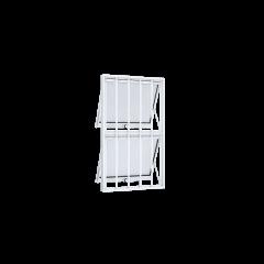 Vitrô De Alumínio Max Ar Duplo Vertical Com Grade