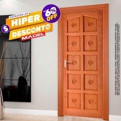 Porta de Madeira Maciça Torneada Ecológica Finger-210 x 82 Cedro