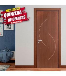 Porta Frisada de Madeira Sarrafeada Sarah Padrão Imbuia -210 x 62