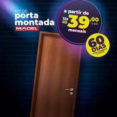 Porta MONTADA Lisa de Madeira Sarrafeada 210 x 72 x 3.5