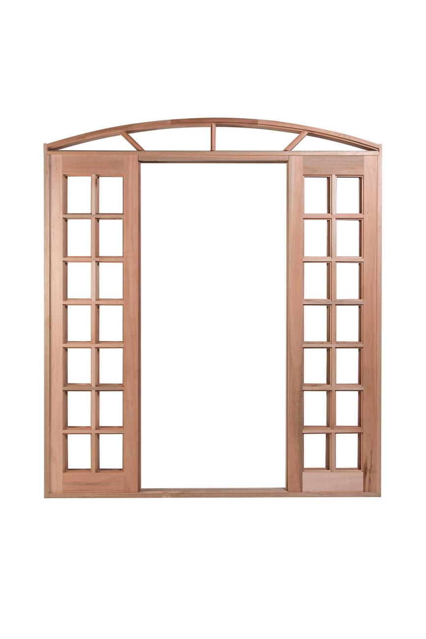 Porta De Correr Arco Quadriculada 4 Folhas