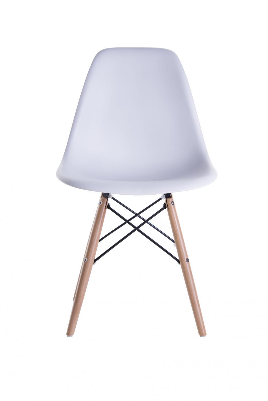 Cadeira Eiffel Sem Braço Base Madeira