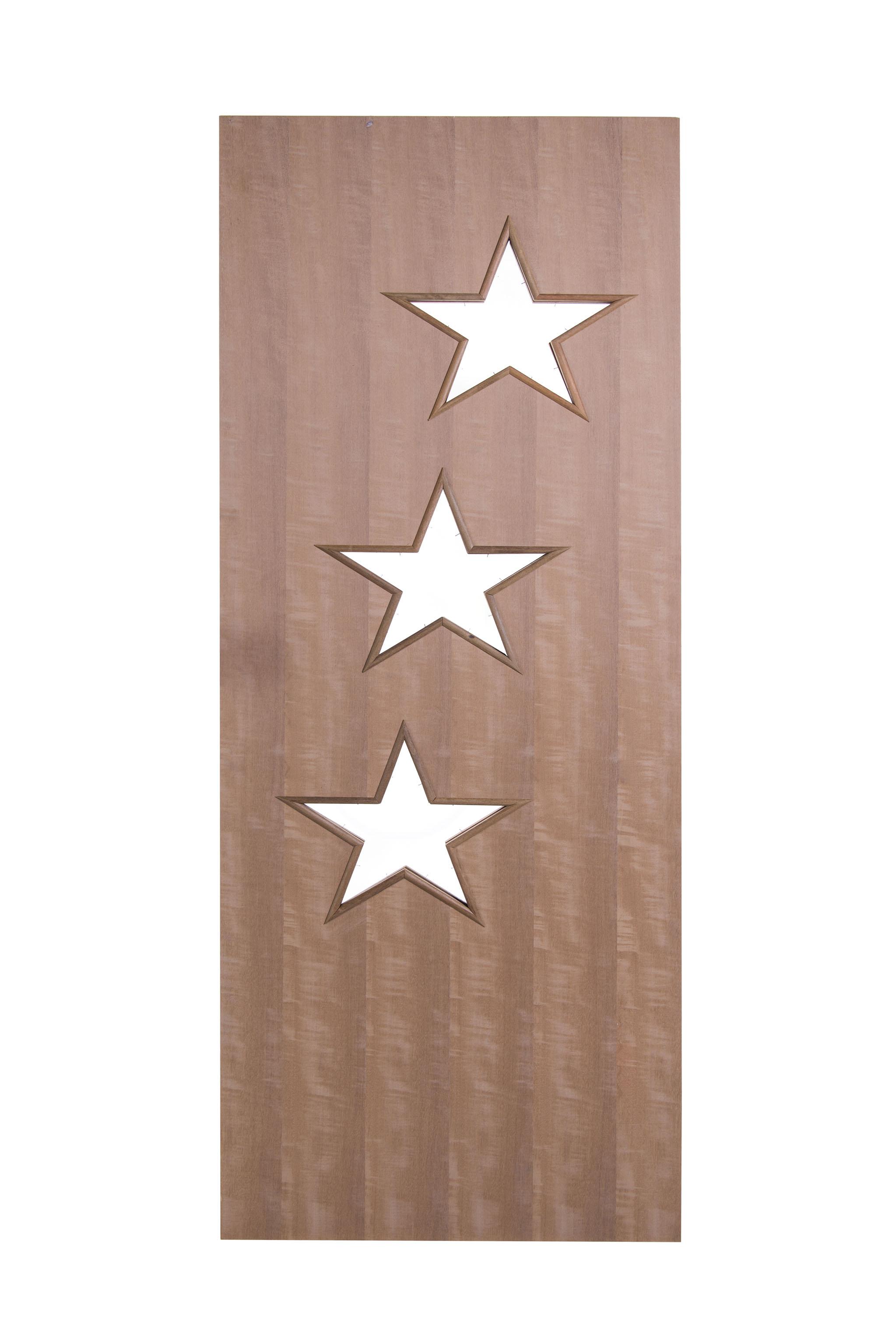 Porta Decorativa de Madeira Sólida Ref108