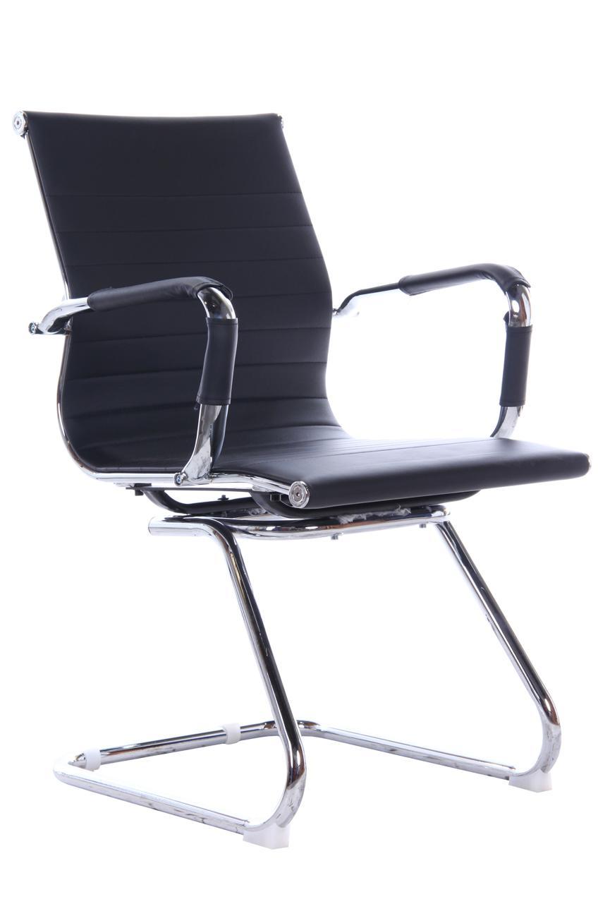 Cadeira Escritório Stripes Bruno Preta Base Cromada