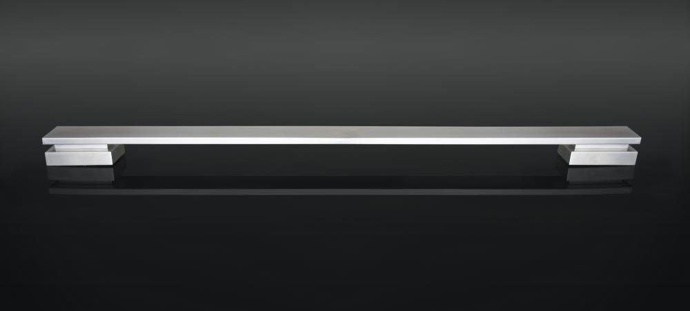 Puxador Home 600Mm Zen Inox Escovado/Escovado (Par)