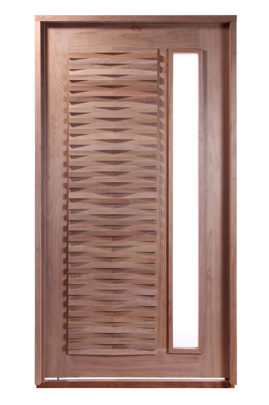 Conjunto Porta Pivotante Maciça Modelo Becka