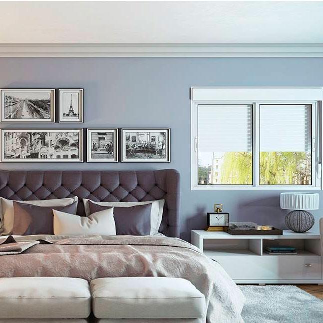 Janela Veneziana Integrada de Alumínio com Persiana e 2 Folhas Móveis