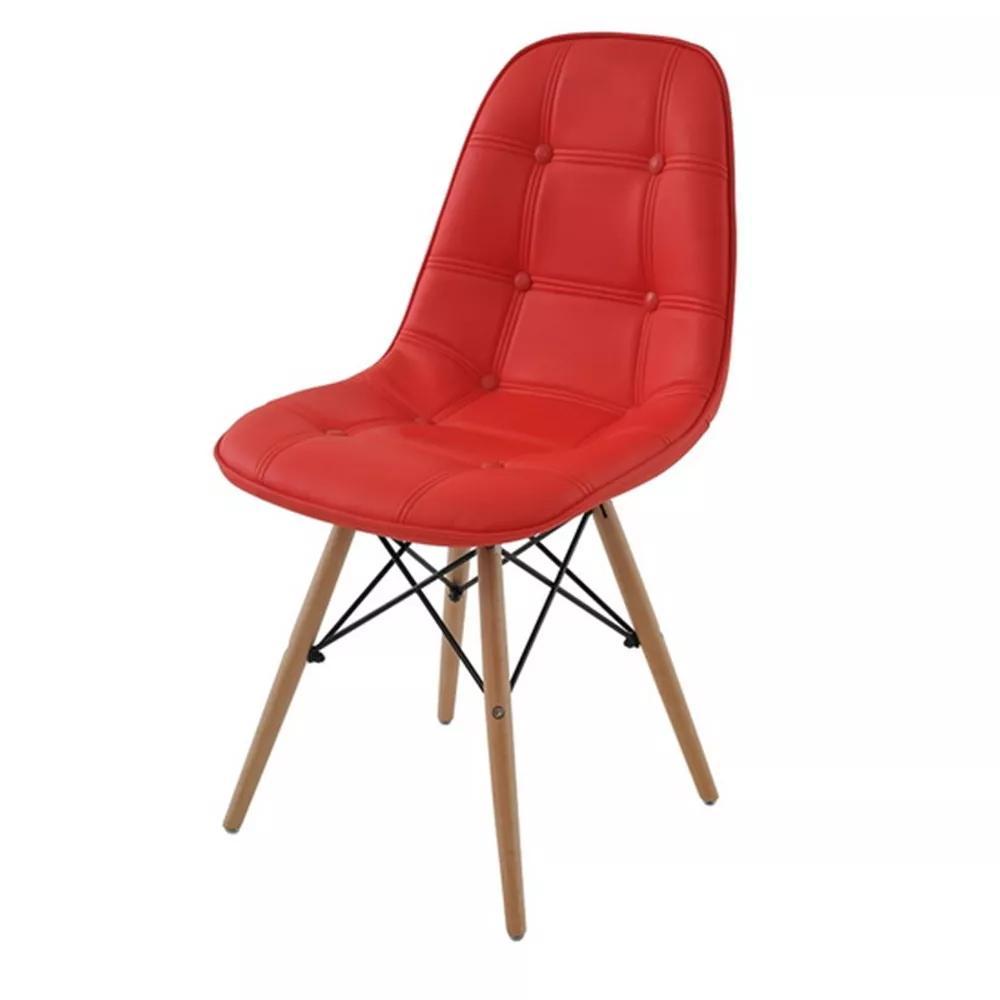 Cadeira Eiffel Botone base de madeira