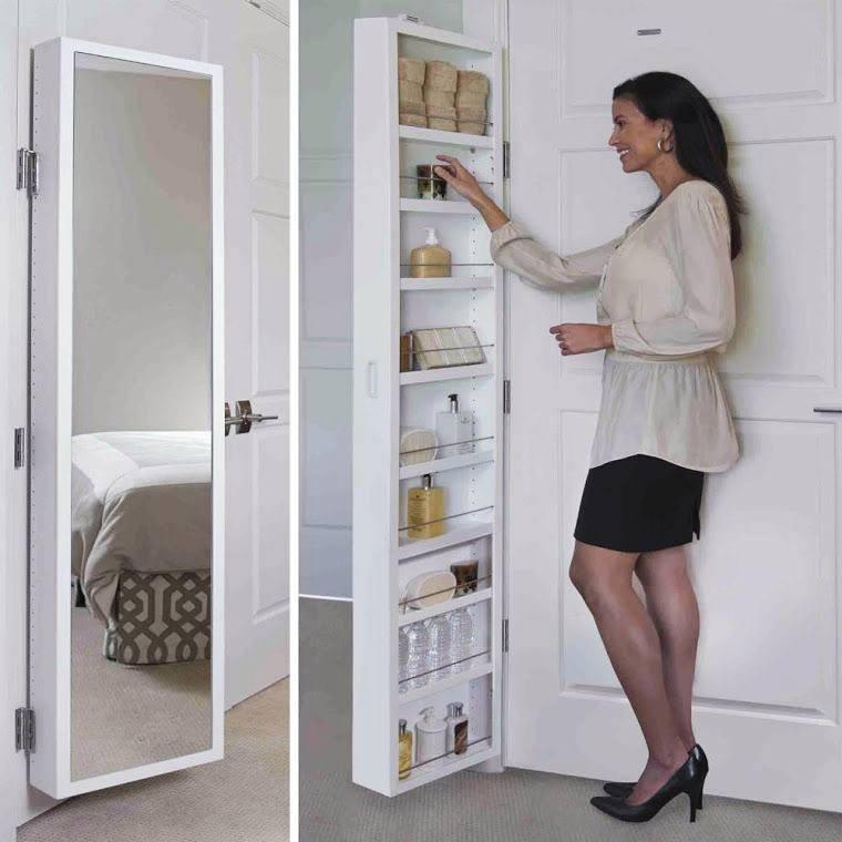 Armário de Porta com Espelho Double Door