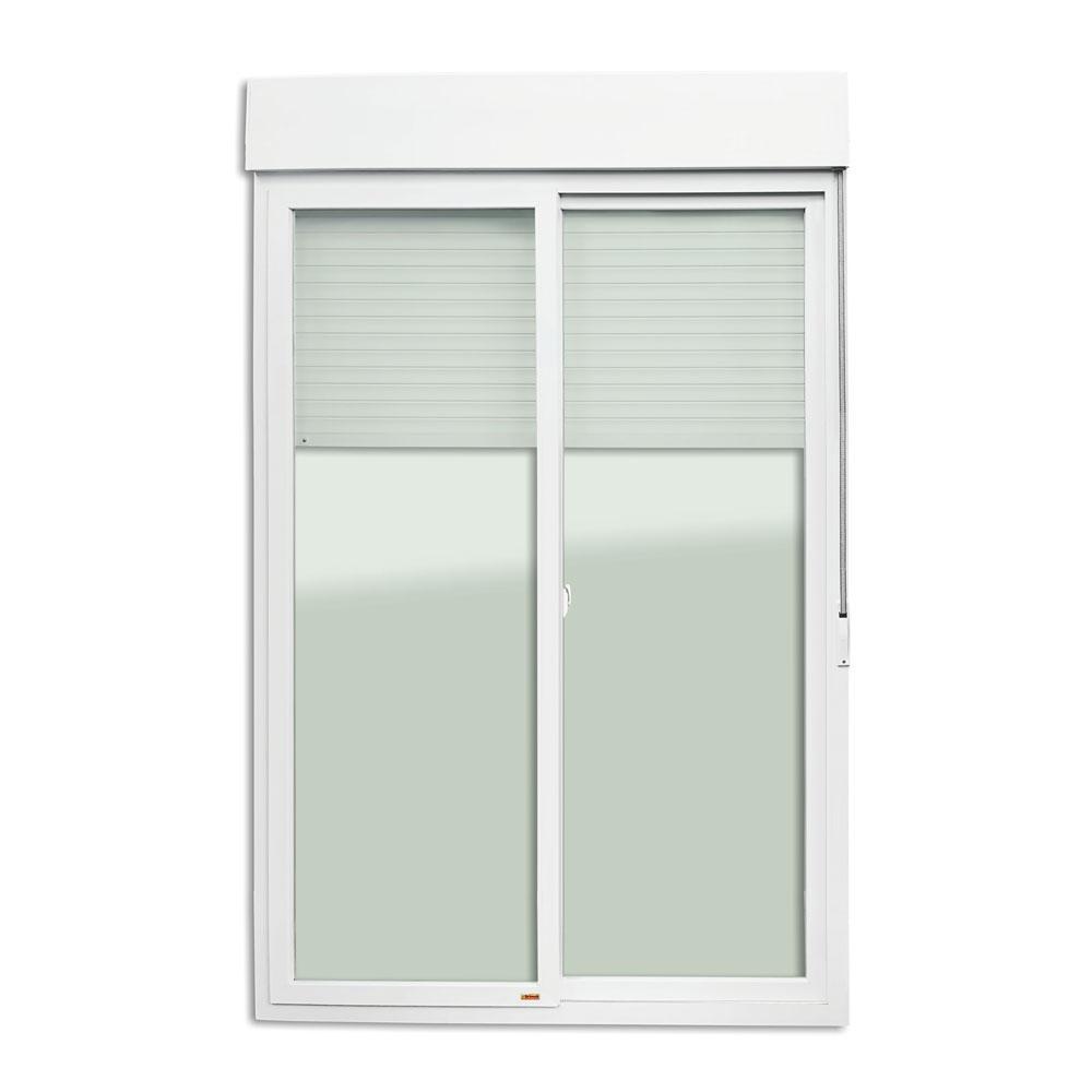 Porta Correr PVC Integrada 2 Folhas Vidro Liso Temperado Bonvisage