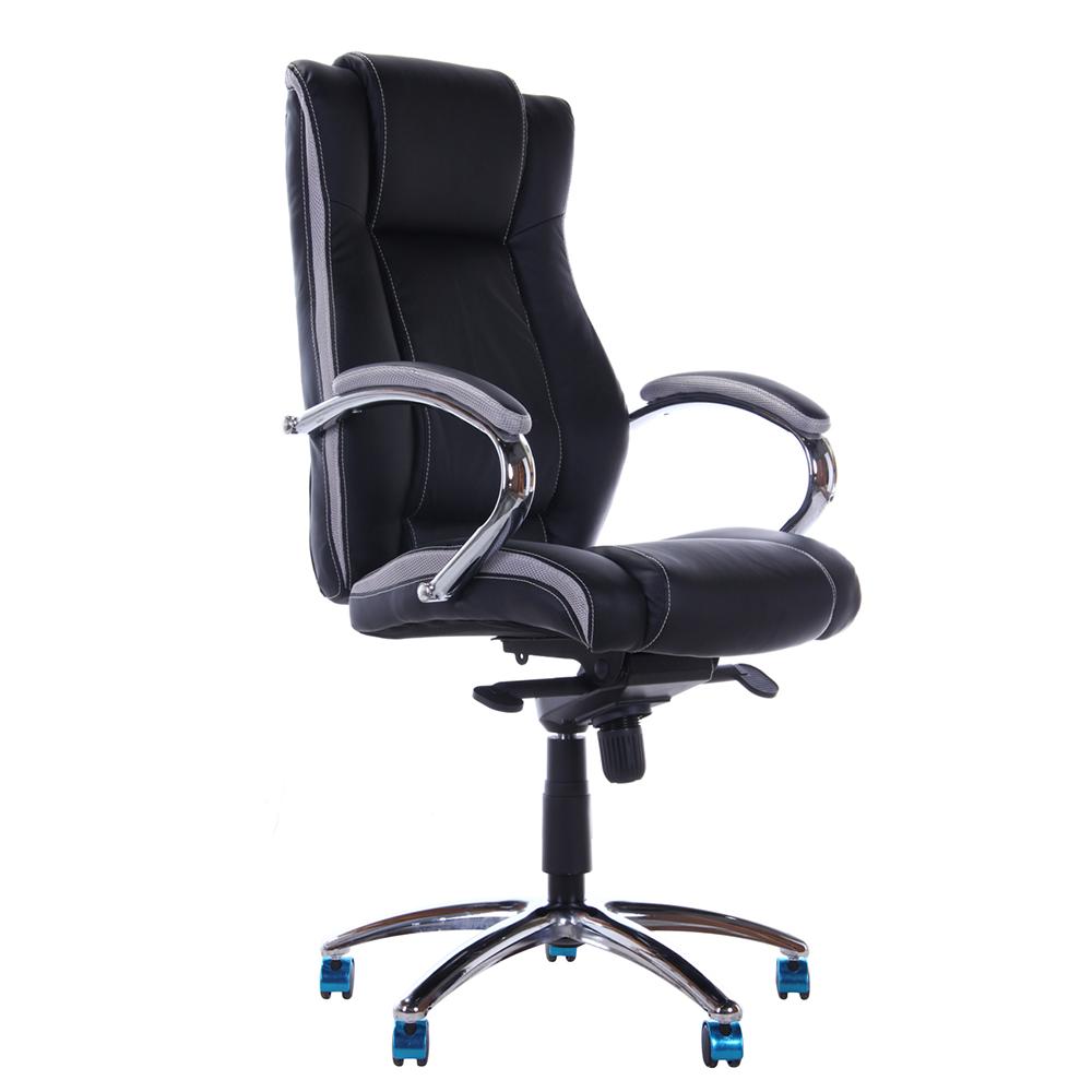 Cadeira Escritório Smooth Preta Base Alumínio