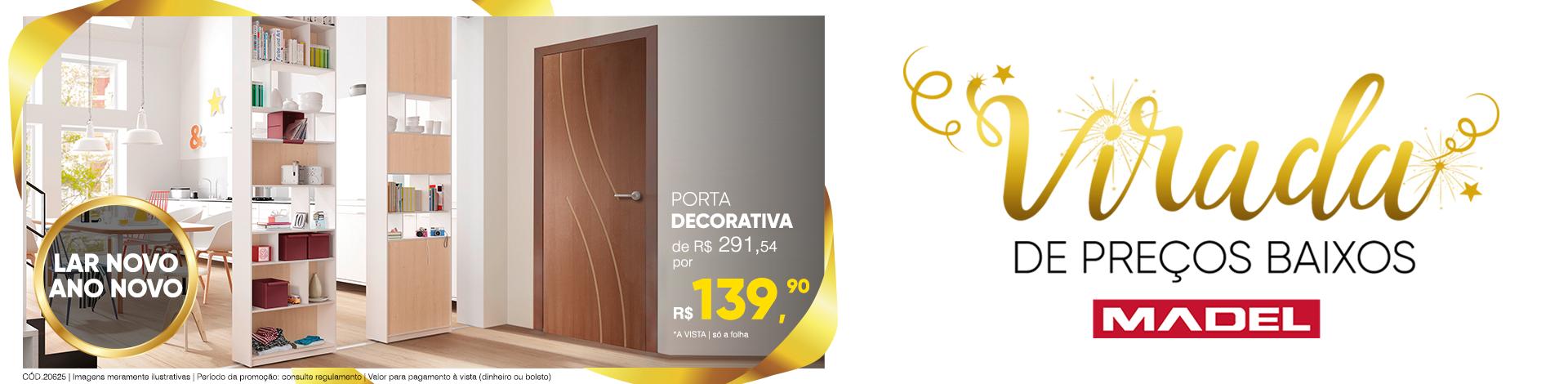 Porta Decorativa Frisada Flávia